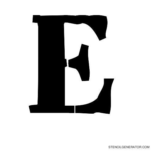 Plastik Film Alphabet Stencil E