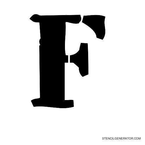 Plastik Film Alphabet Stencil F