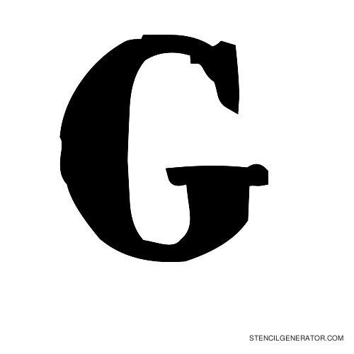 Plastik Film Alphabet Stencil G
