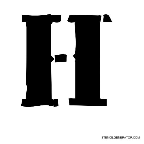 Plastik Film Alphabet Stencil H