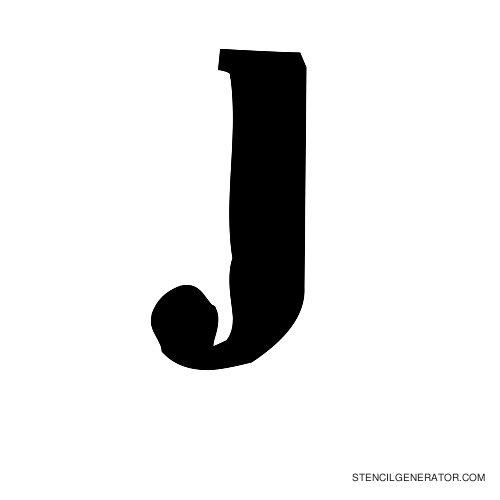Plastik Film Alphabet Stencil J
