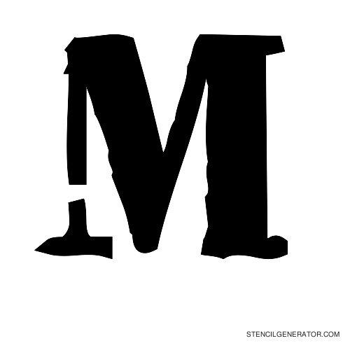 Plastik Film Alphabet Stencil M