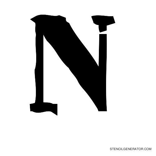 Plastik Film Alphabet Stencil N