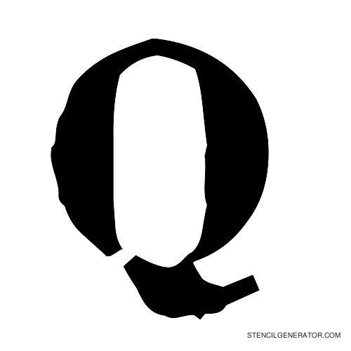Plastik Film Alphabet Stencil Q