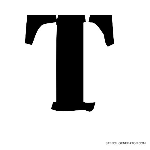 Plastik Film Alphabet Stencil T