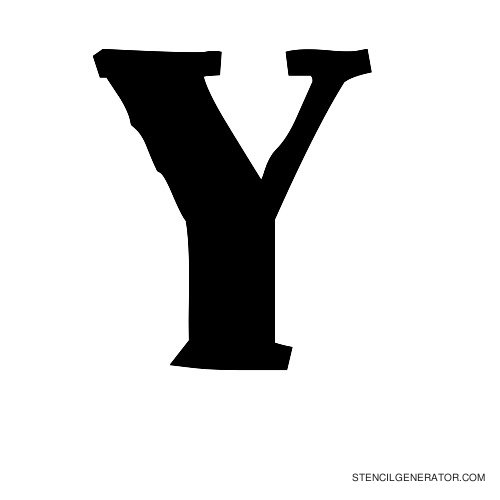 Plastik Film Alphabet Stencil Y