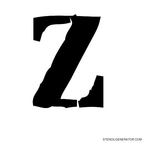 Plastik Film Alphabet Stencil Z
