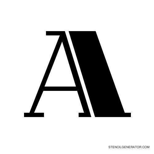Rialto Alphabet Stencil A
