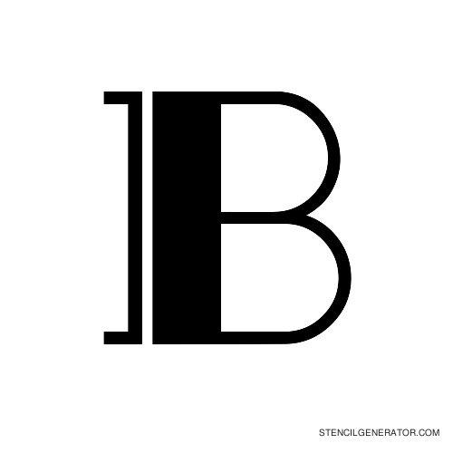 Rialto Alphabet Stencil B