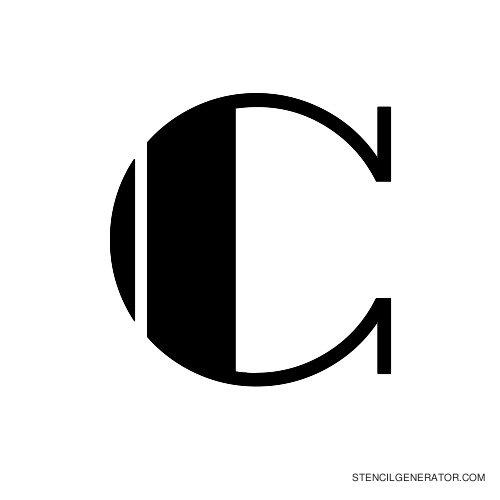 Rialto Alphabet Stencil C