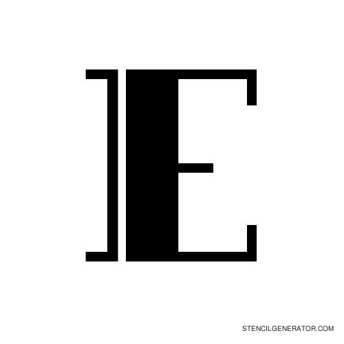 Rialto Alphabet Stencil E