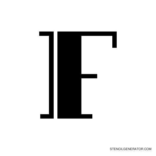 Rialto Alphabet Stencil F