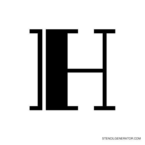 Rialto Alphabet Stencil H