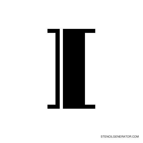 Rialto Alphabet Stencil I