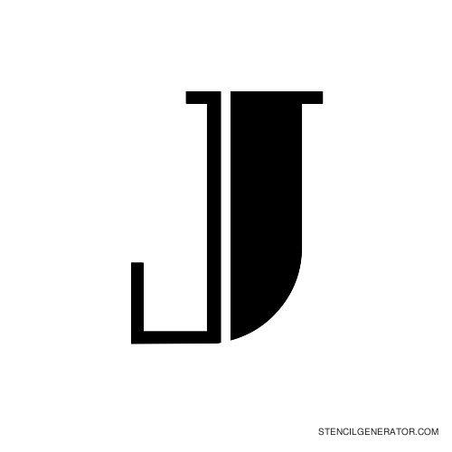 Rialto Alphabet Stencil J
