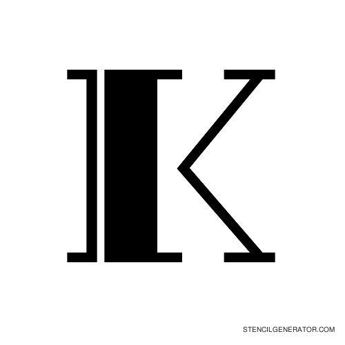 Rialto Alphabet Stencil K