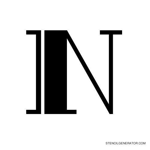 Rialto Alphabet Stencil N