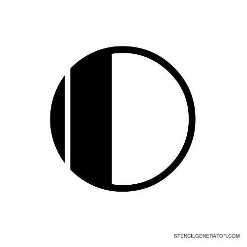 Rialto Alphabet Stencil O