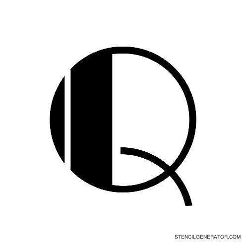 Rialto Alphabet Stencil Q