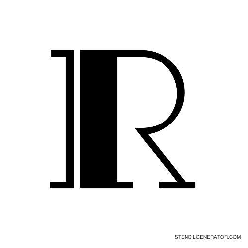 Rialto Alphabet Stencil R