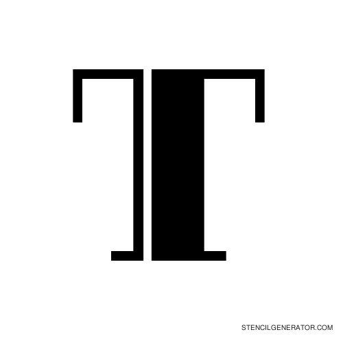 Rialto Alphabet Stencil T