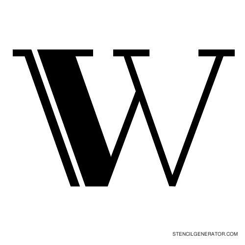 Rialto Alphabet Stencil W