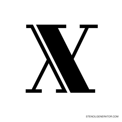 Rialto Alphabet Stencil X