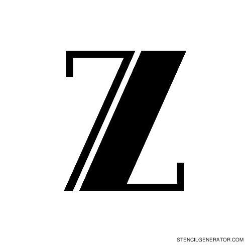 Rialto Alphabet Stencil Z