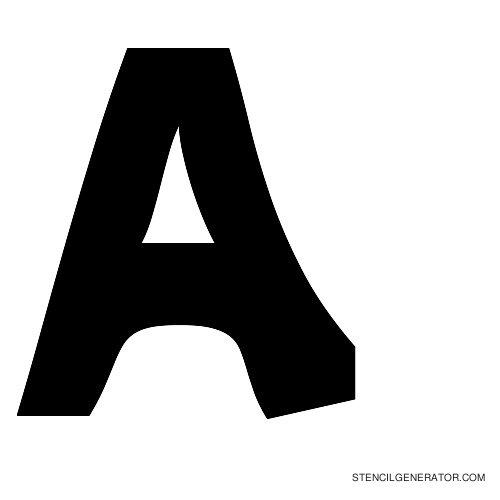 Sledge Alphabet Stencil A