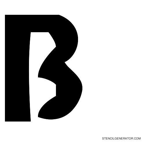 Sledge Alphabet Stencil B
