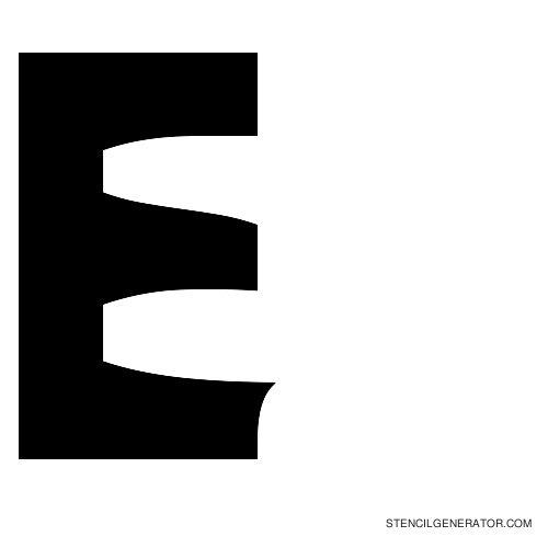 Sledge Alphabet Stencil E