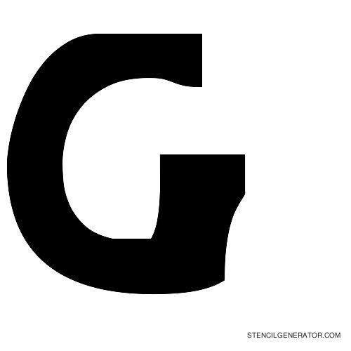 Sledge Alphabet Stencil G