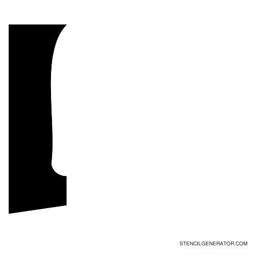 Sledge Alphabet Stencil I