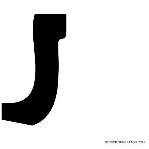 Sledge Alphabet Stencil J