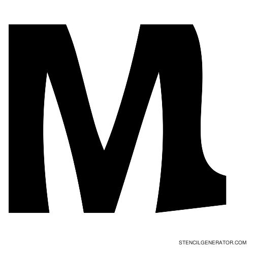 Sledge Alphabet Stencil M