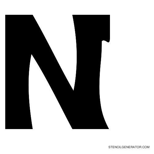 Sledge Alphabet Stencil N