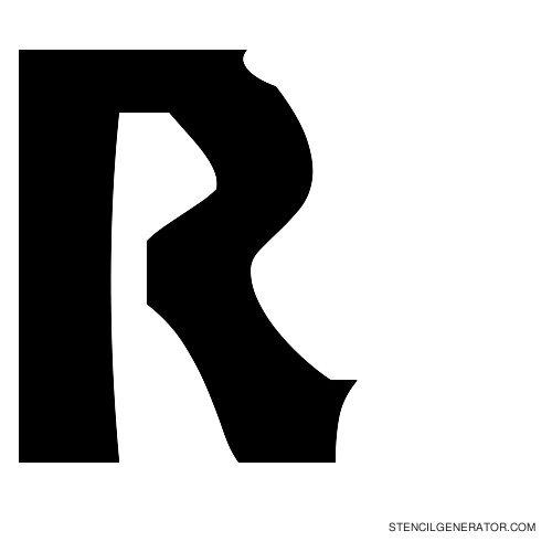 Sledge Alphabet Stencil R