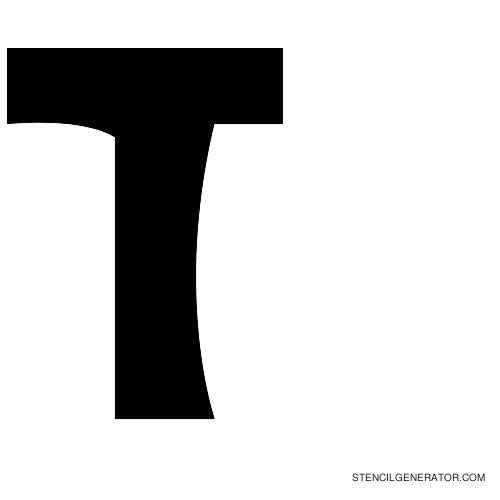 Sledge Alphabet Stencil T
