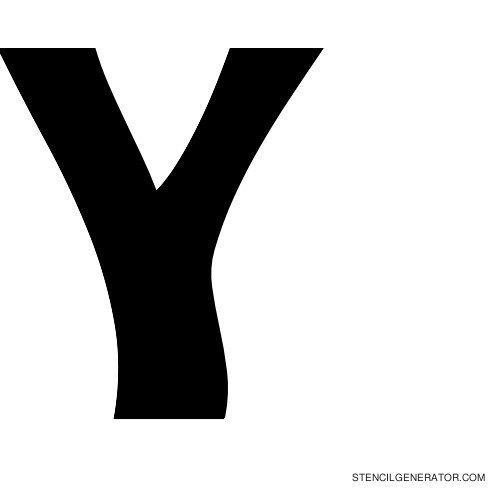 Sledge Alphabet Stencil Y