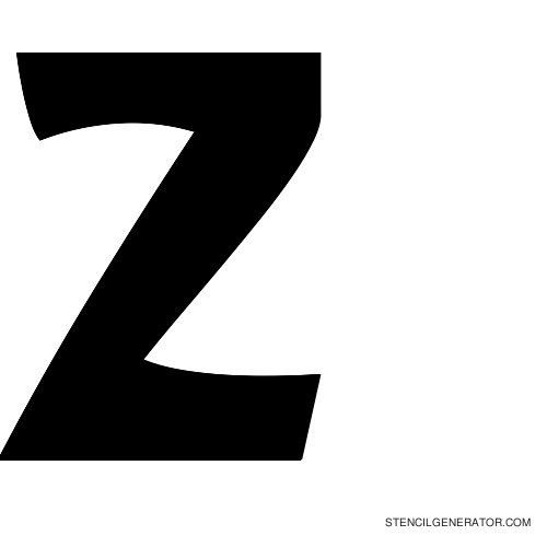 Sledge Alphabet Stencil Z