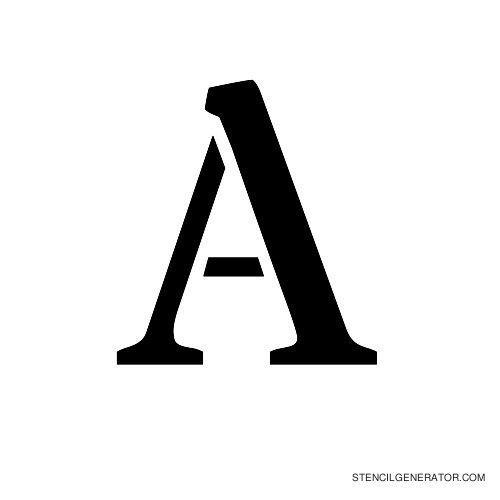 Stardos Alphabet Stencil A