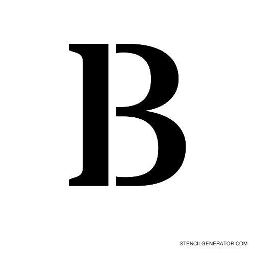 Stardos Alphabet Stencil B