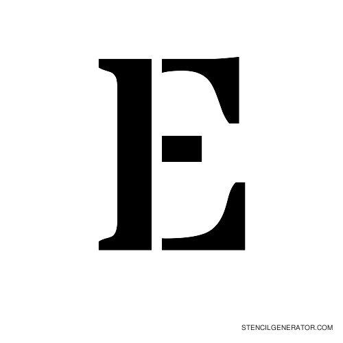 Stardos Alphabet Stencil E