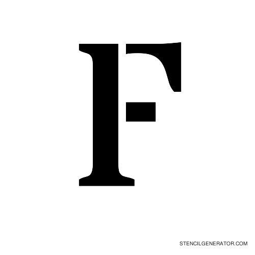 Stardos Alphabet Stencil F