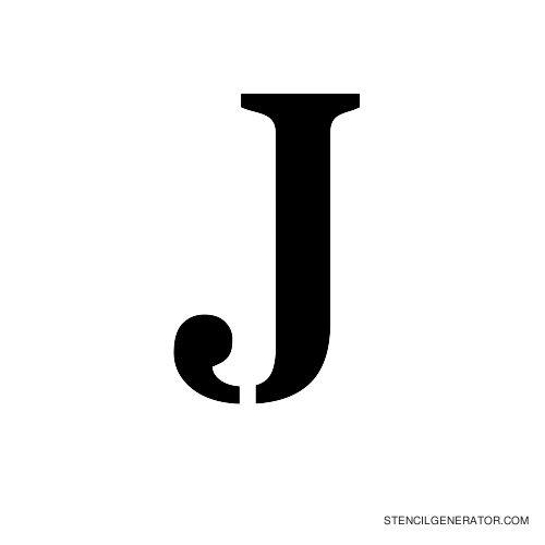 Stardos Alphabet Stencil J