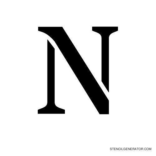 Stardos Alphabet Stencil N