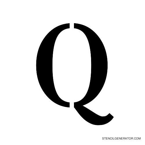Stardos Alphabet Stencil Q