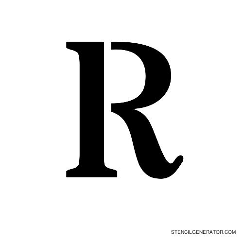 Stardos Alphabet Stencil R