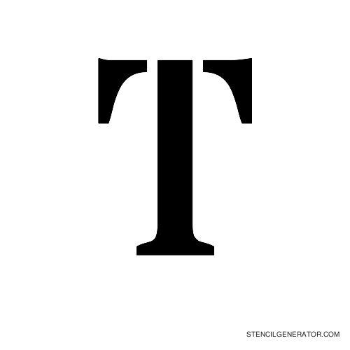 Stardos Alphabet Stencil T
