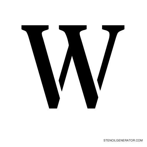 Stardos Alphabet Stencil W